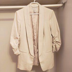 H&M cream ivory blazer
